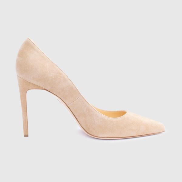 Sand suede Décolleté shoe
