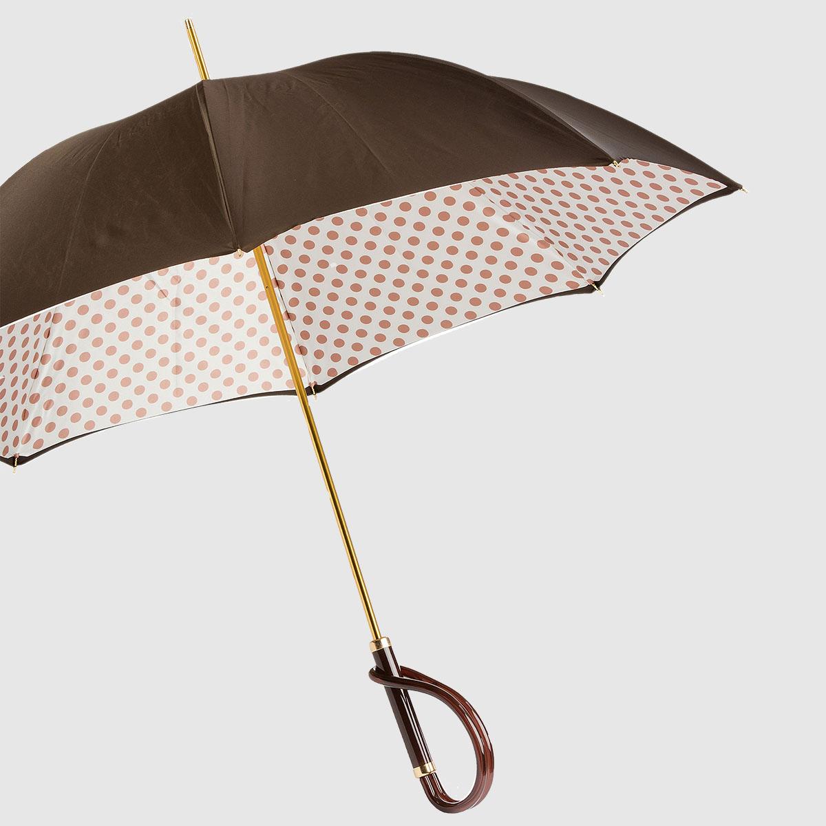 Women's Umbrella with polka dot lining