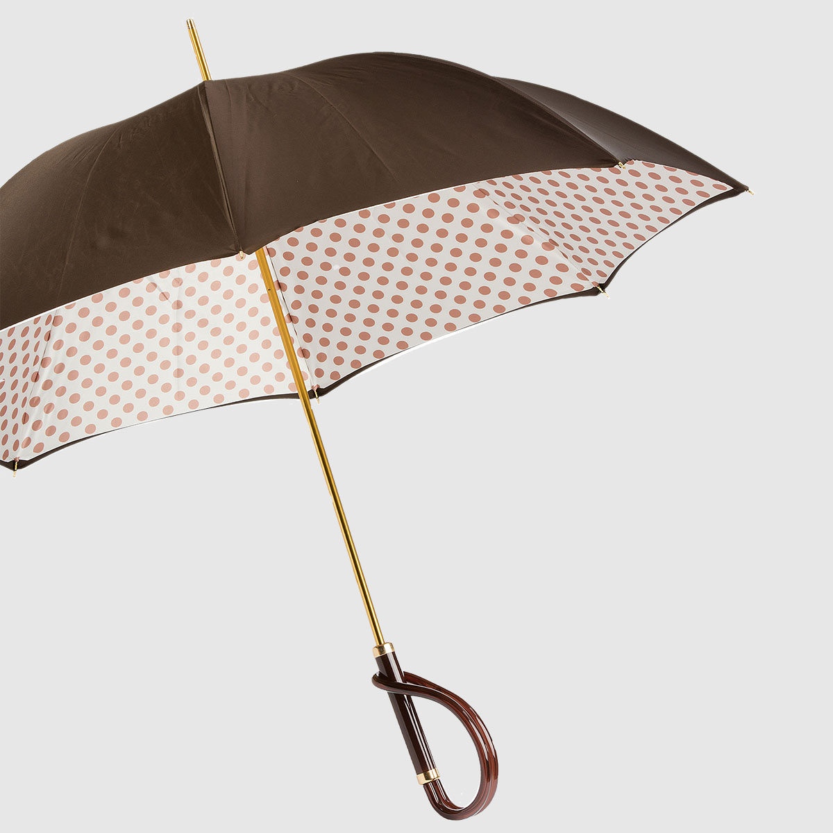 Women's Umbrella with polka dot lining