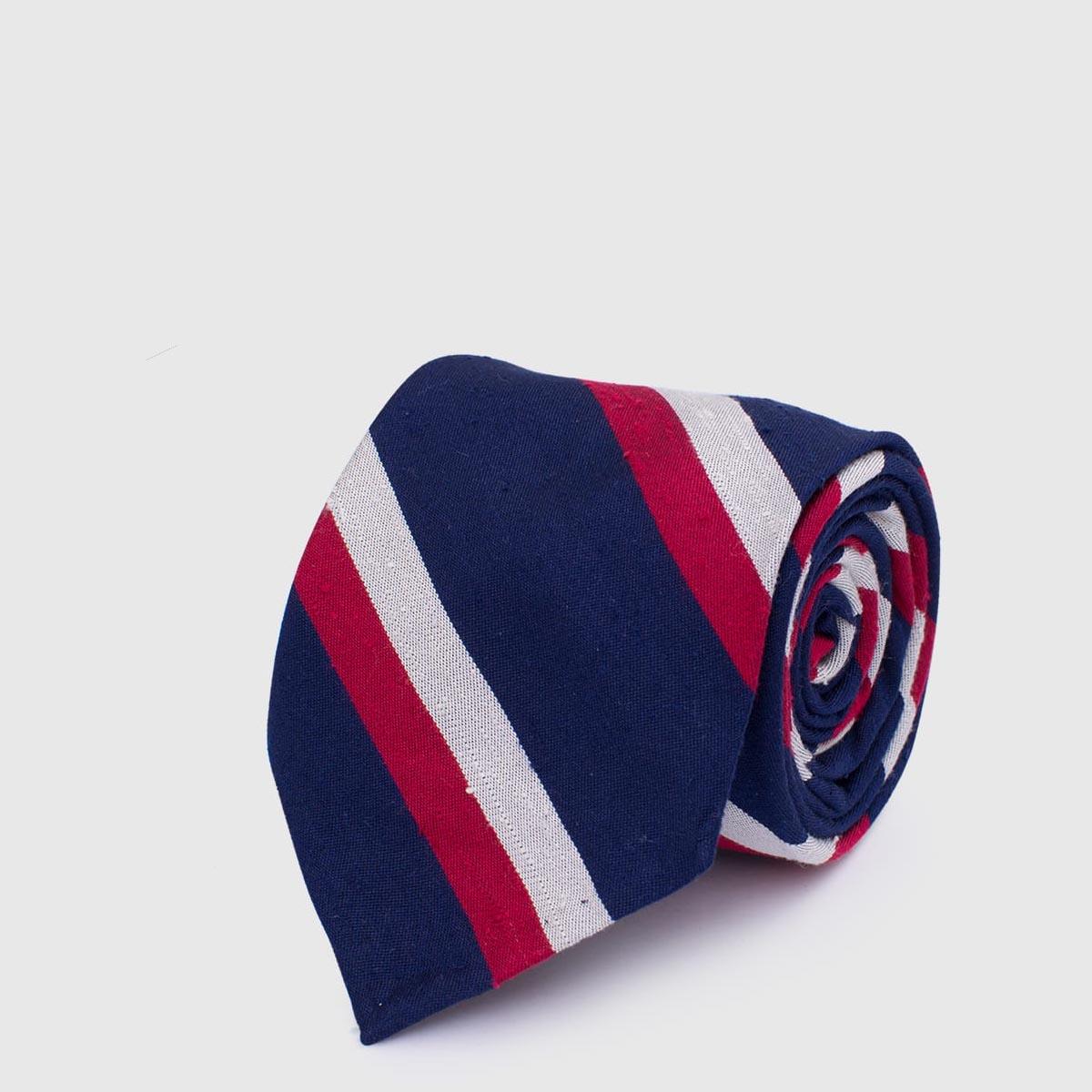 Fine 100% regimental Silk Tie