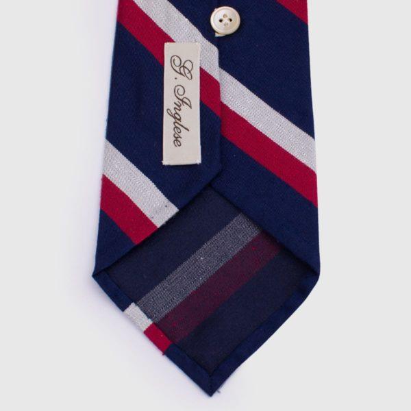 Cravatta 10 pieghe G.Inglese in seta regimental