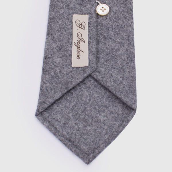 Cravatta G.Inglese in flanella grigia Vitale Barberis Canonico
