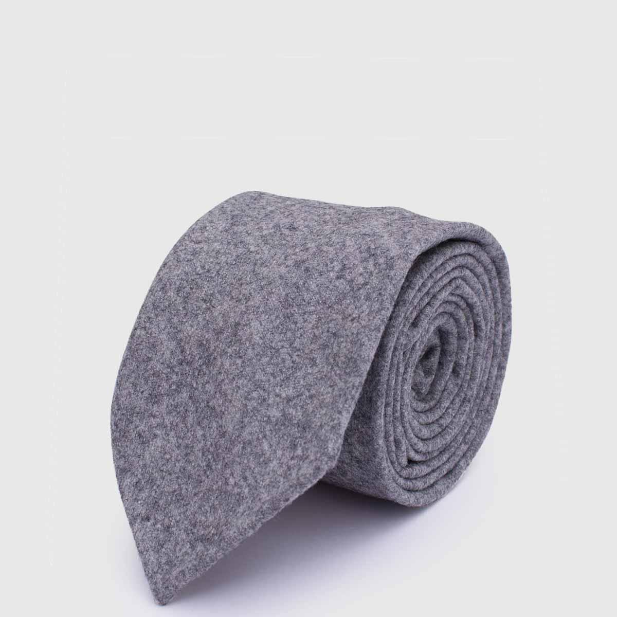 G. Inglese tie in gray flannel Vitale Barberis Canonico