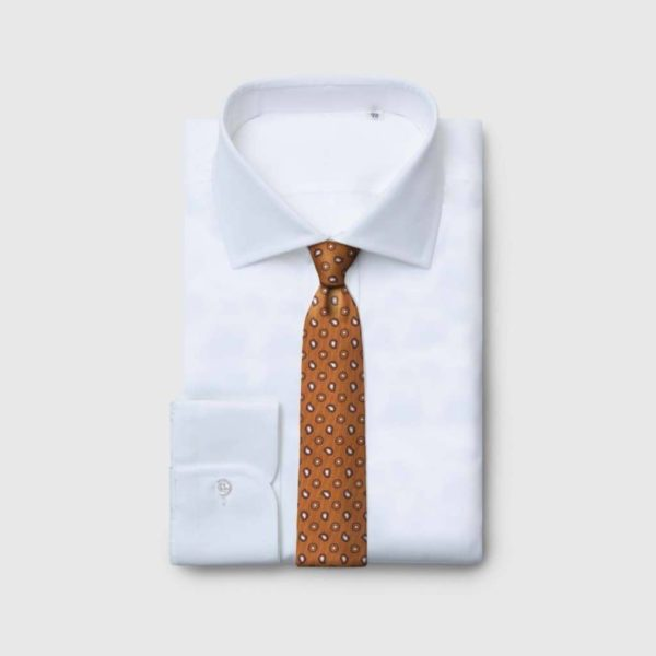 Cravatta 5 pieghe in Seta Jaquard con motivi Kashmir