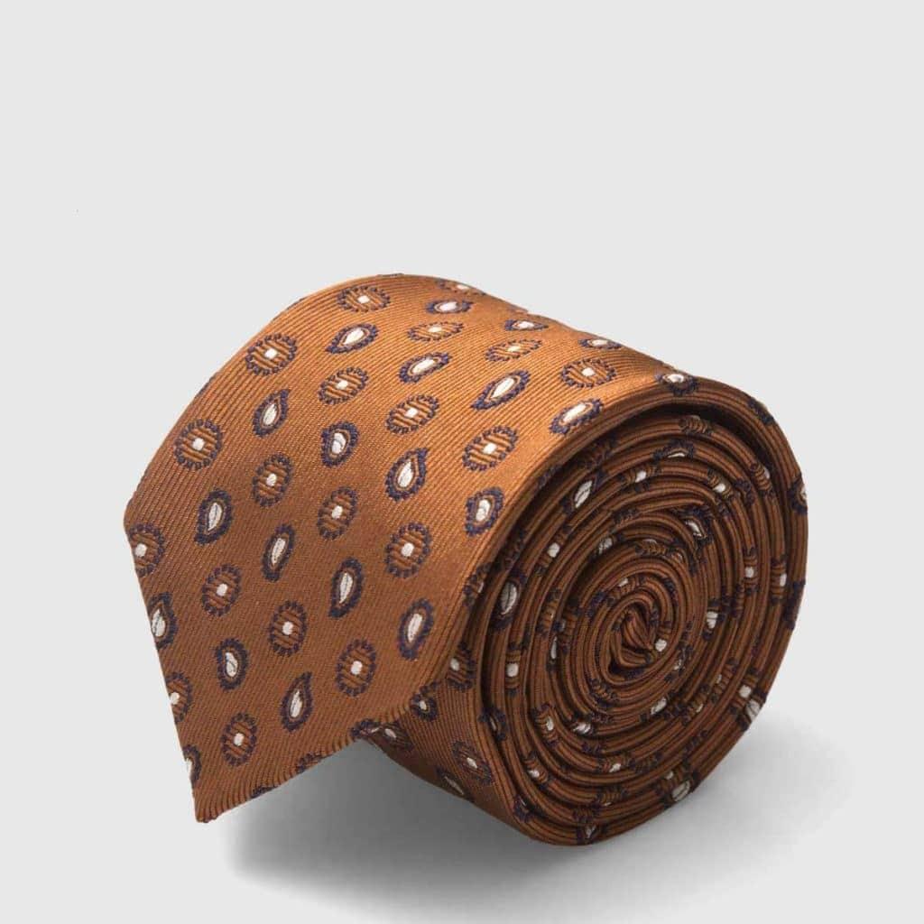 5-Fold Silk Jacquard Tie made by Fumagalli 1891