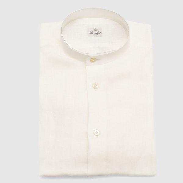 """Camicia 100% Lino """"Bianco Sporco"""" 6 Passaggi"""