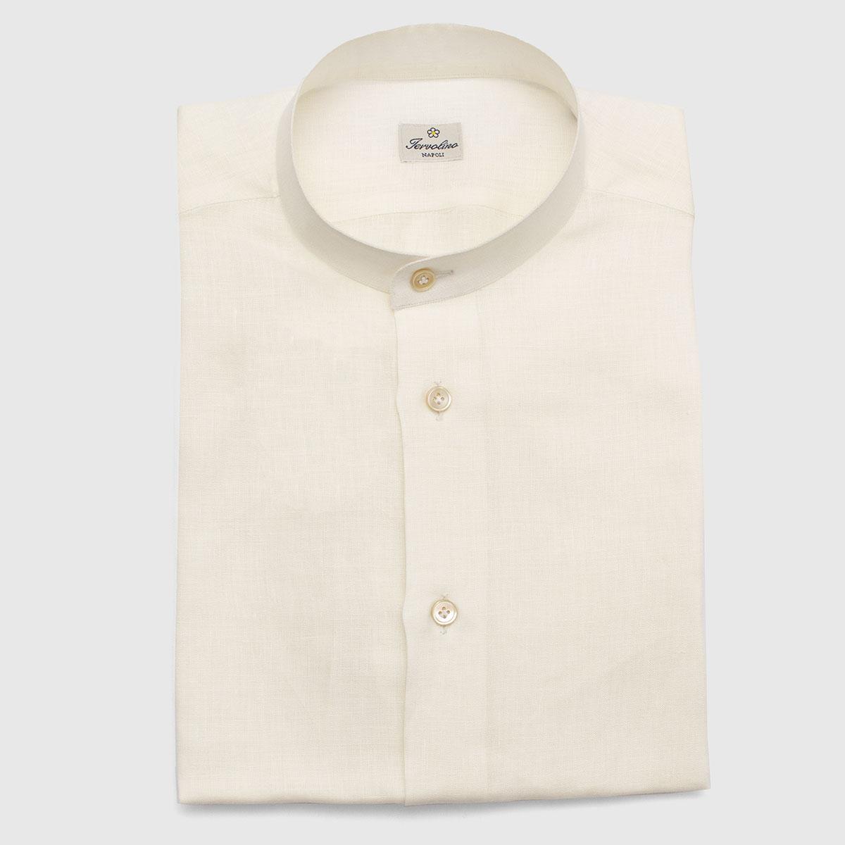 Off-white Linen shirt 6 handmade steps