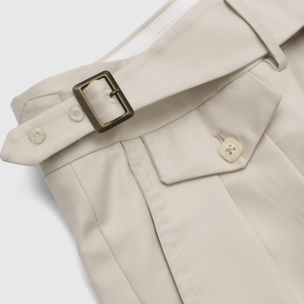 Two Pleats beige Trouser in 120s Wool Vitale Barberis Canonico