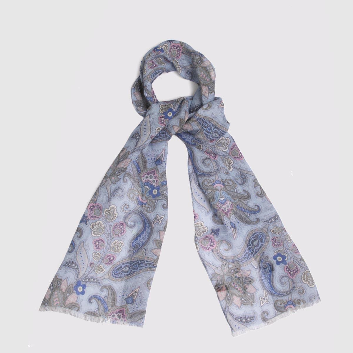 100% Printed Linen Scarf