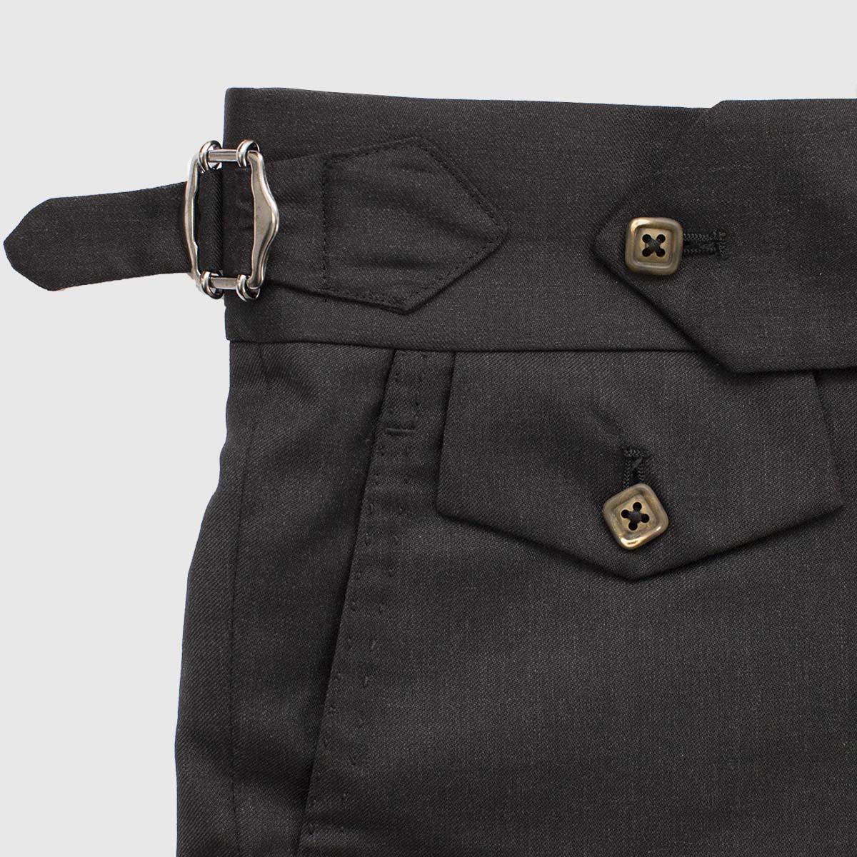 One Pleat trousers in wool