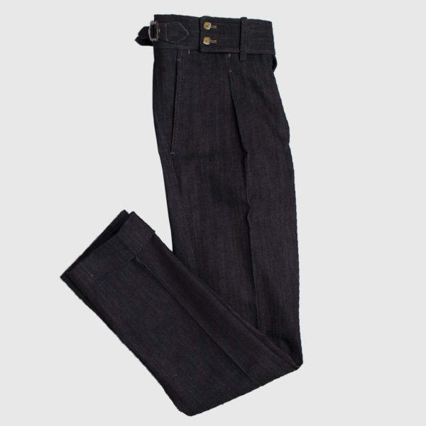 Pantalone Denim vita alta 1 pience