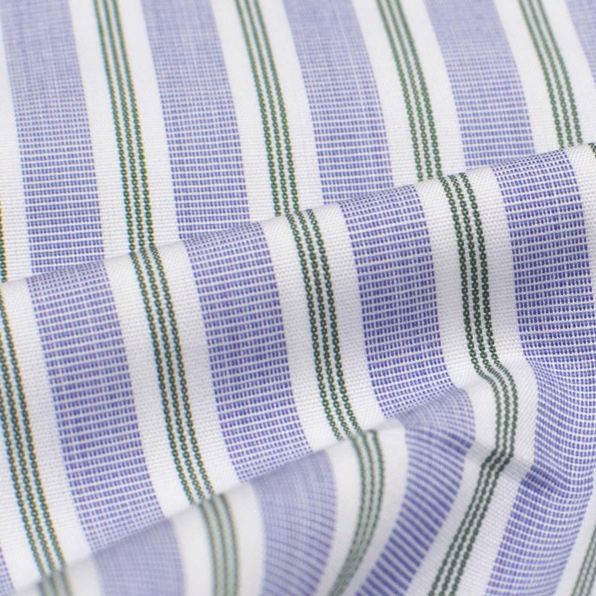 Camicia In Popeline Di Cotone A Righe Verdi E Bianche Barròco Italia