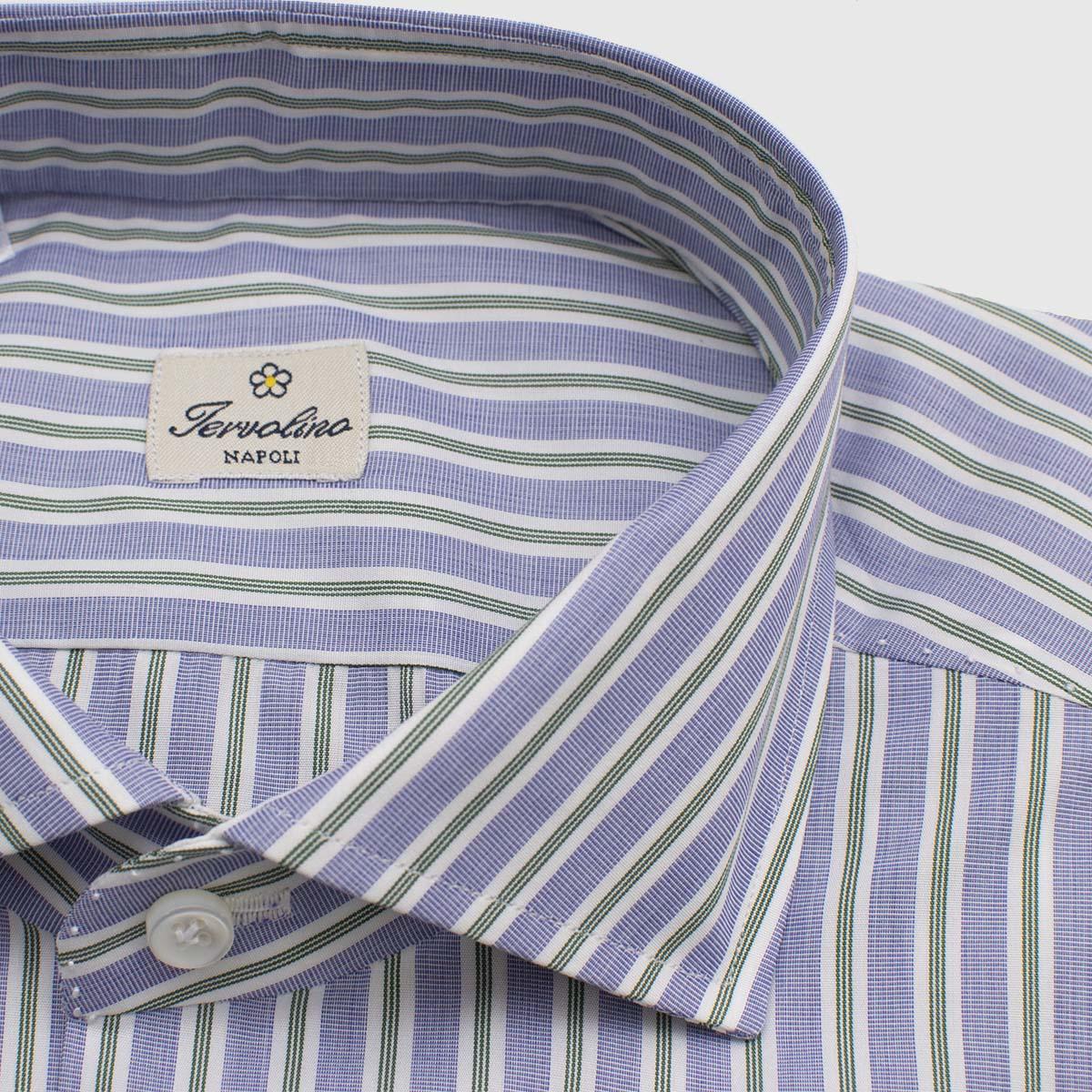 Twelve handmade steps striped poplin Shirt