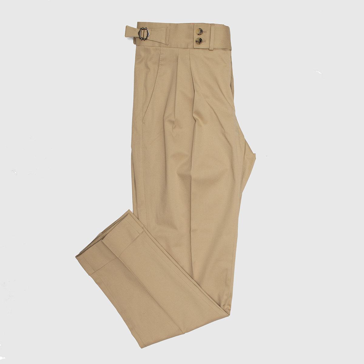 Cotton 2 pleats Trousers