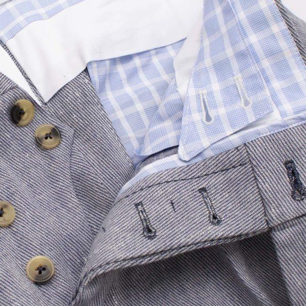 Pantaloni casual 2 piences lana cotone lino