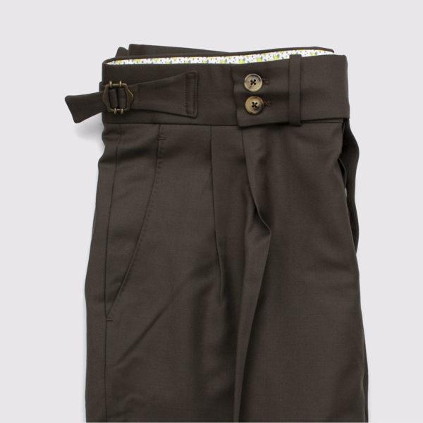 Pantaloni casual 2 piences lana grigia