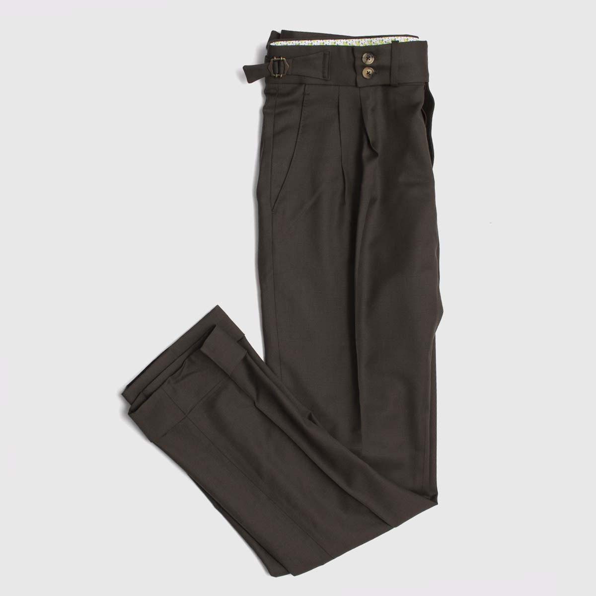 Reda Wool Double pleats trousers