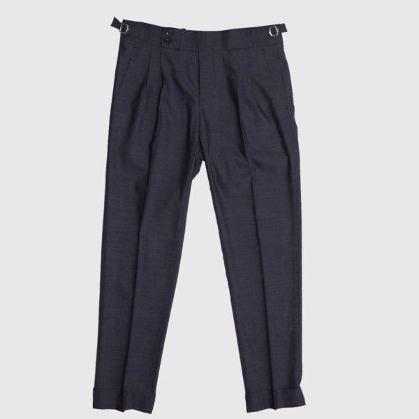 Pantaloni casual 2 piences lana grigia drago