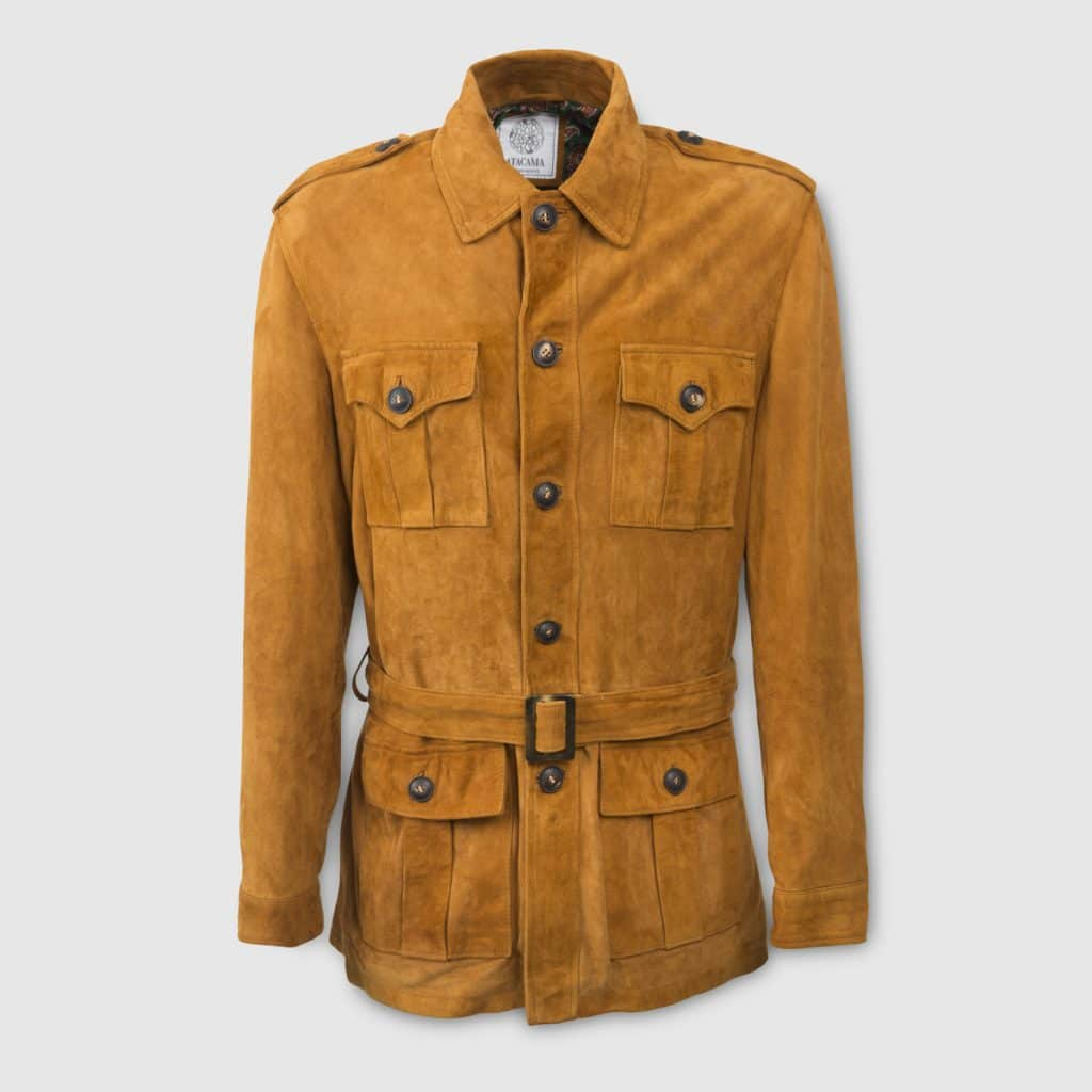 Atacama's Natural-colored leather Safari Jacket
