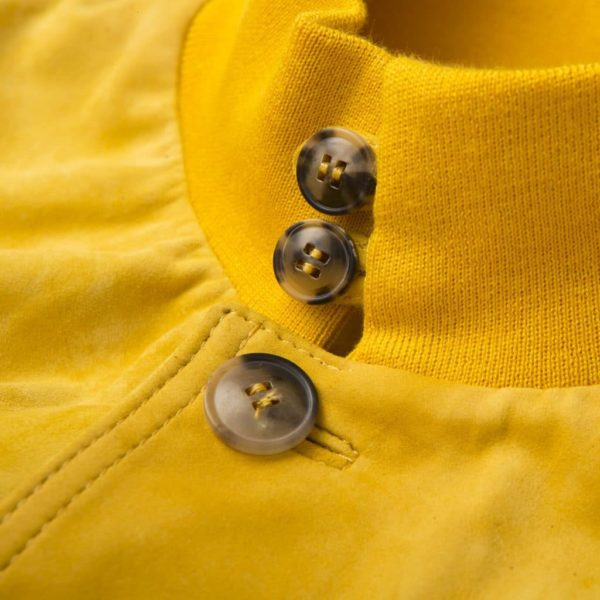 """Giacca bomber in suede giallo """"A1 Cary"""""""