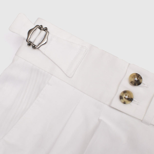 Pantaloni casual 2 piences in Cotone bianco