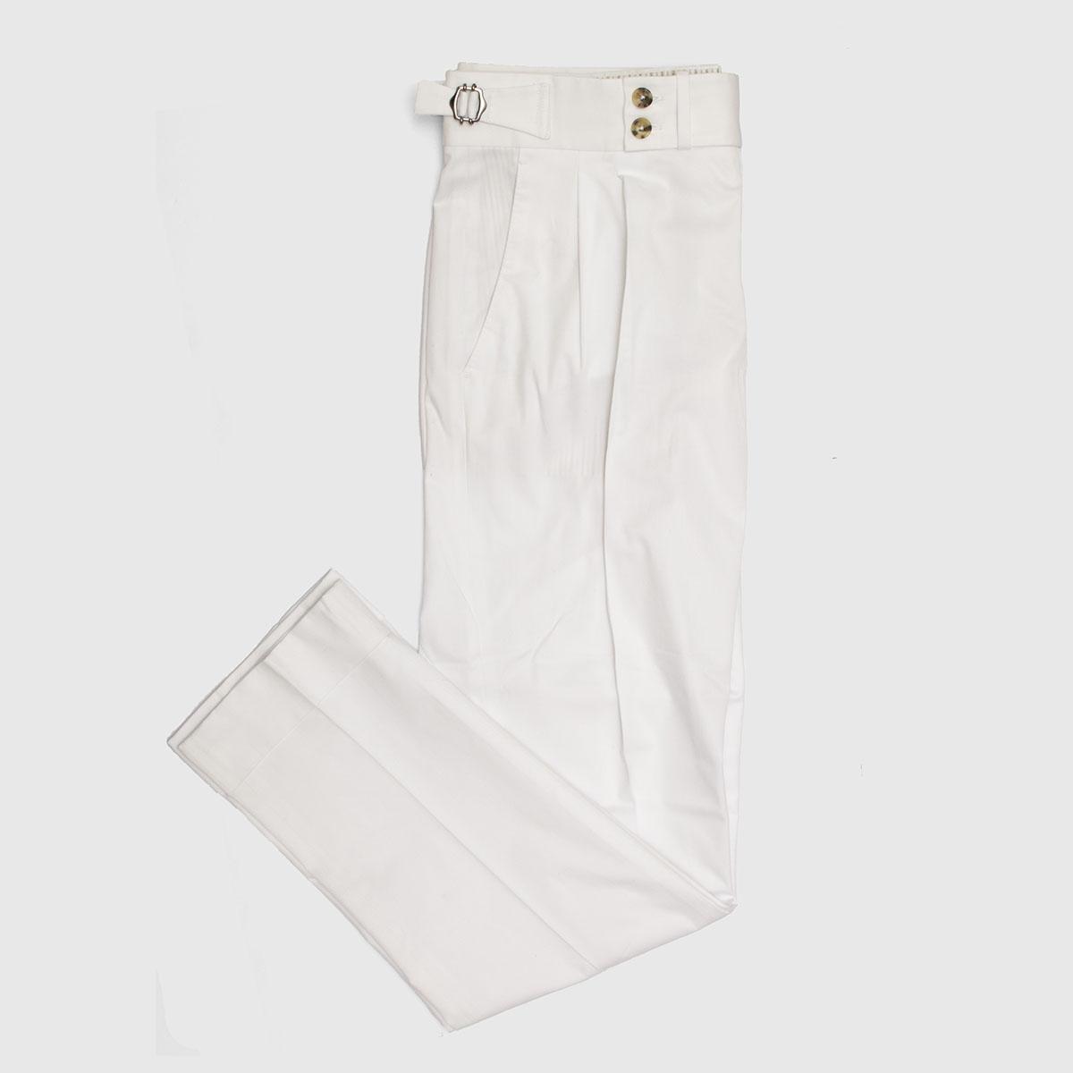 Two piences White Cotton Trousers