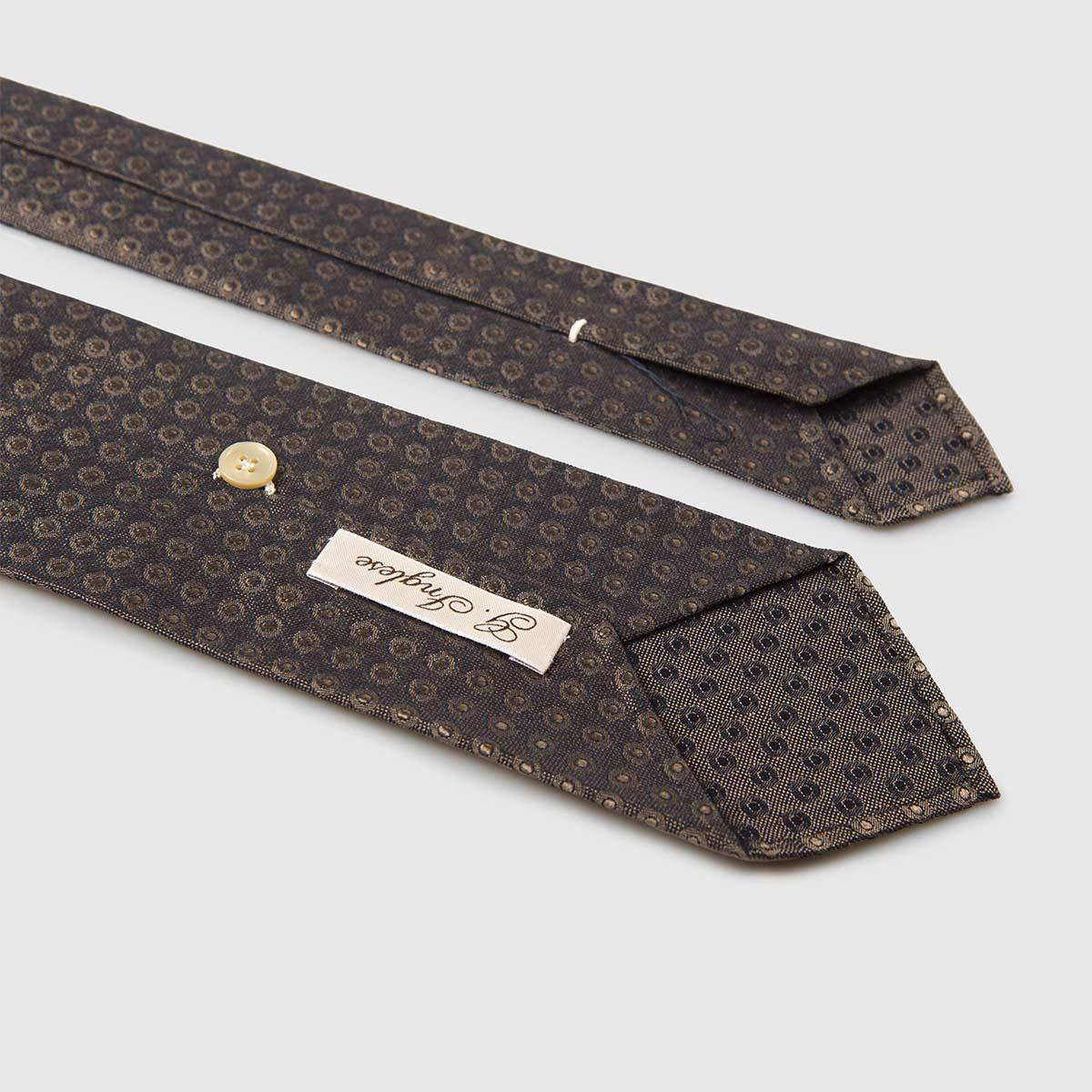 Cravatta rifinita a mano in Seta Jacquard G.inglese