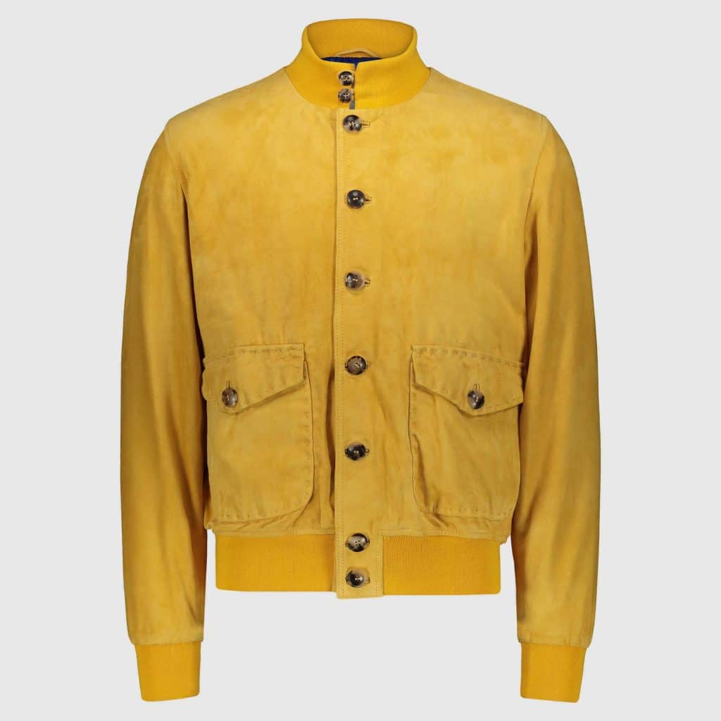 Yellow suede Bomber Jacket A1 Cary