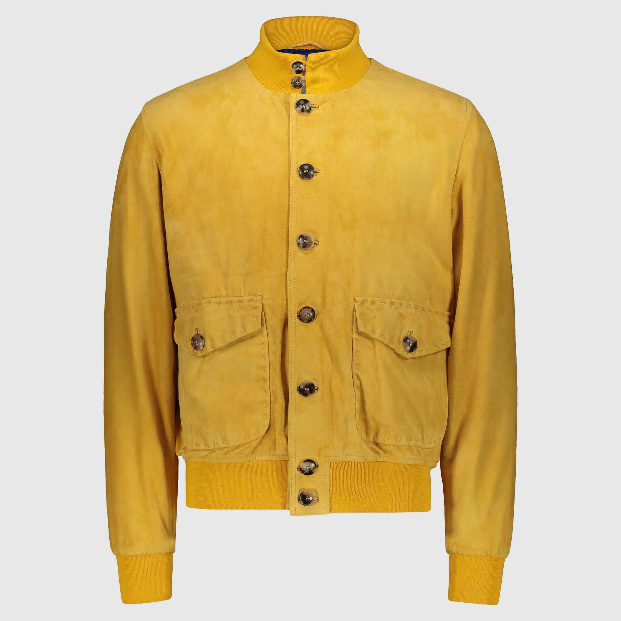 "Giacca bomber in suede giallo ""A1 Cary"""