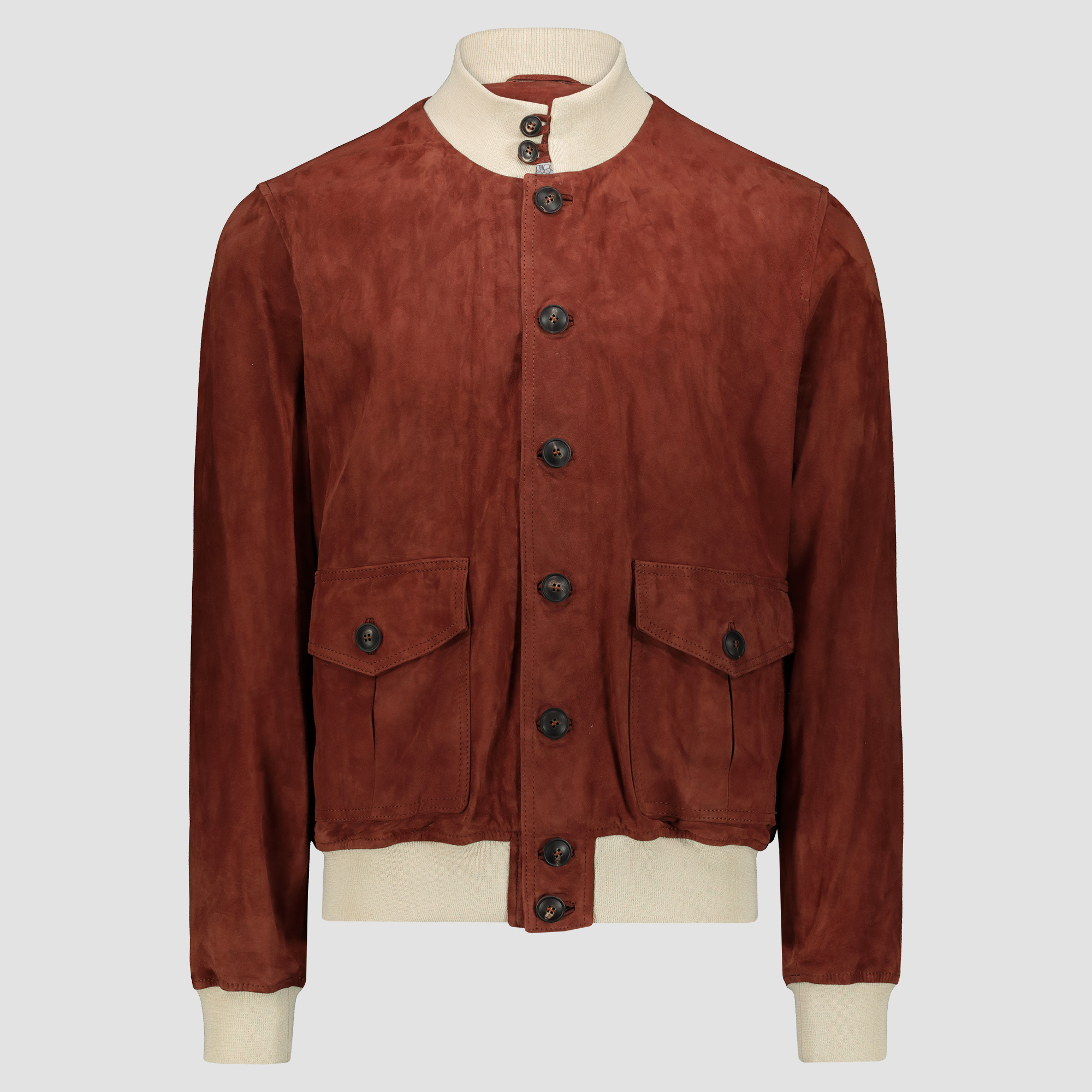 Brick suede & beige details Bomber Jacket A1 Cary