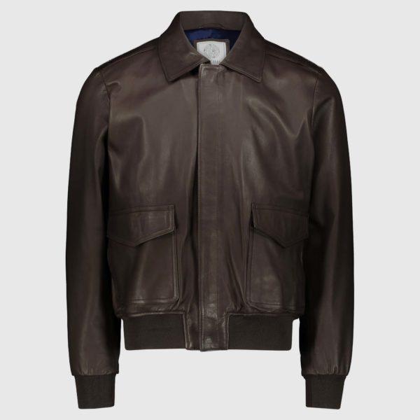 Brown Lambskin Jacket Gregory