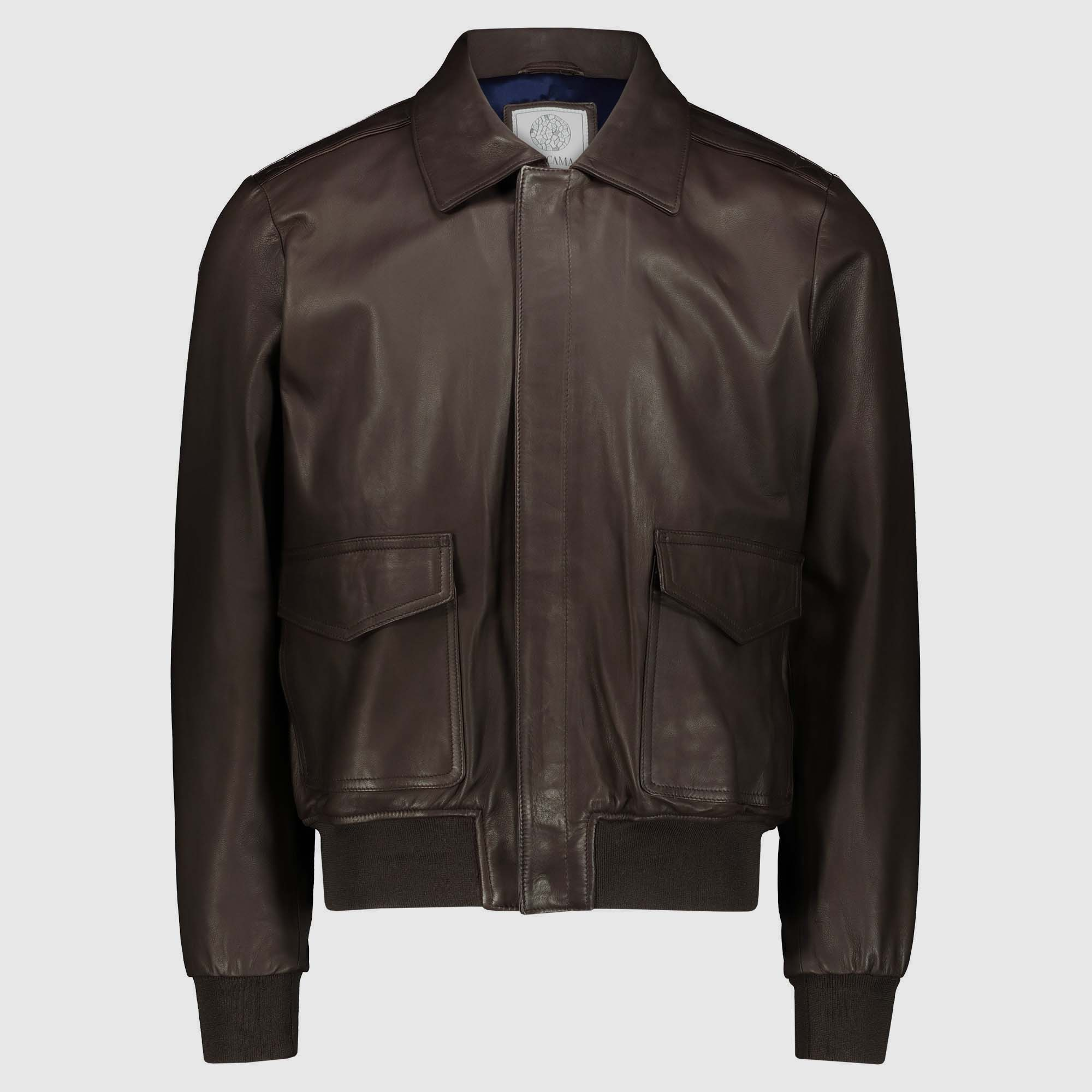 Brown Lambskin Jacket Gregory