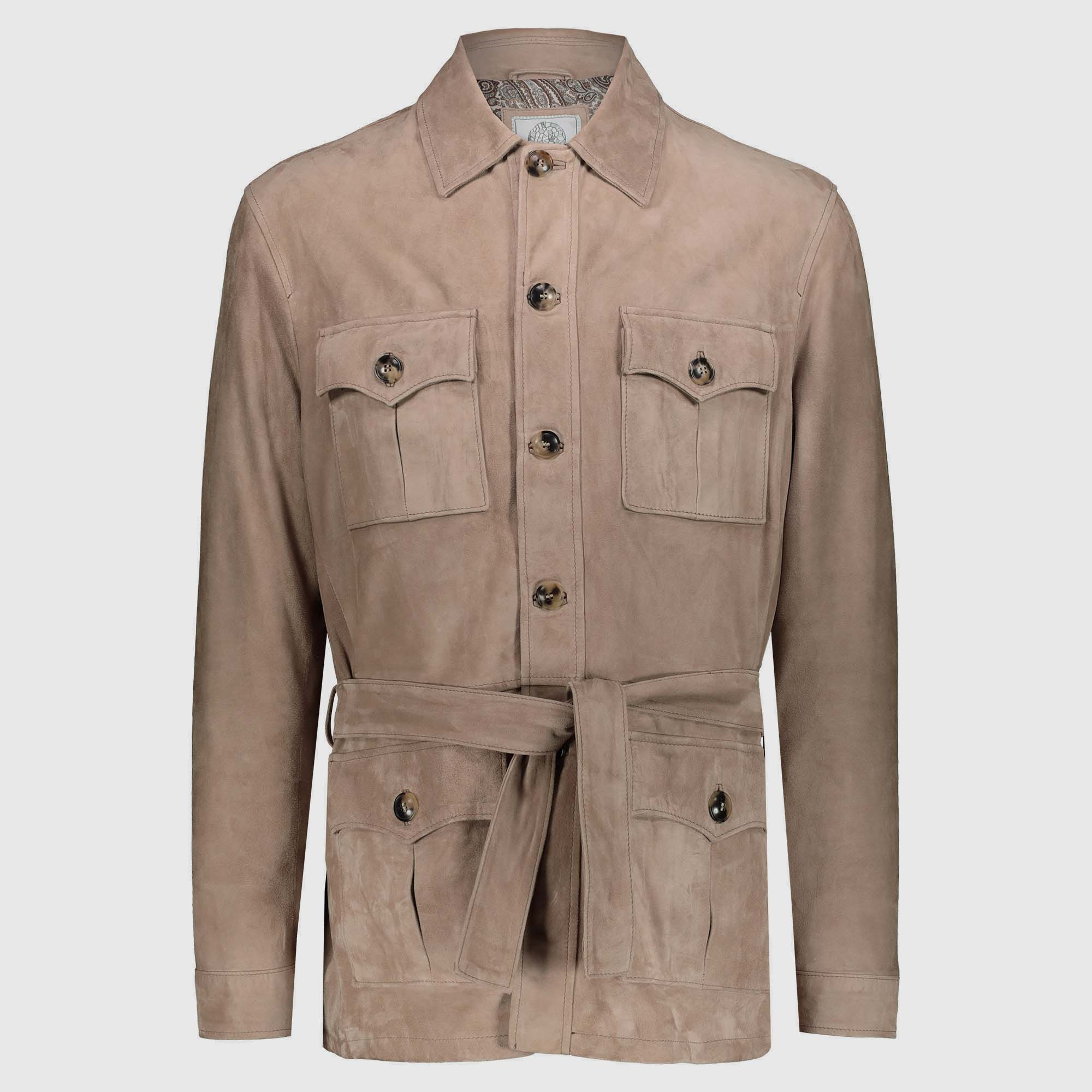 "Dove grey suede safari Jacket ""Robert"""