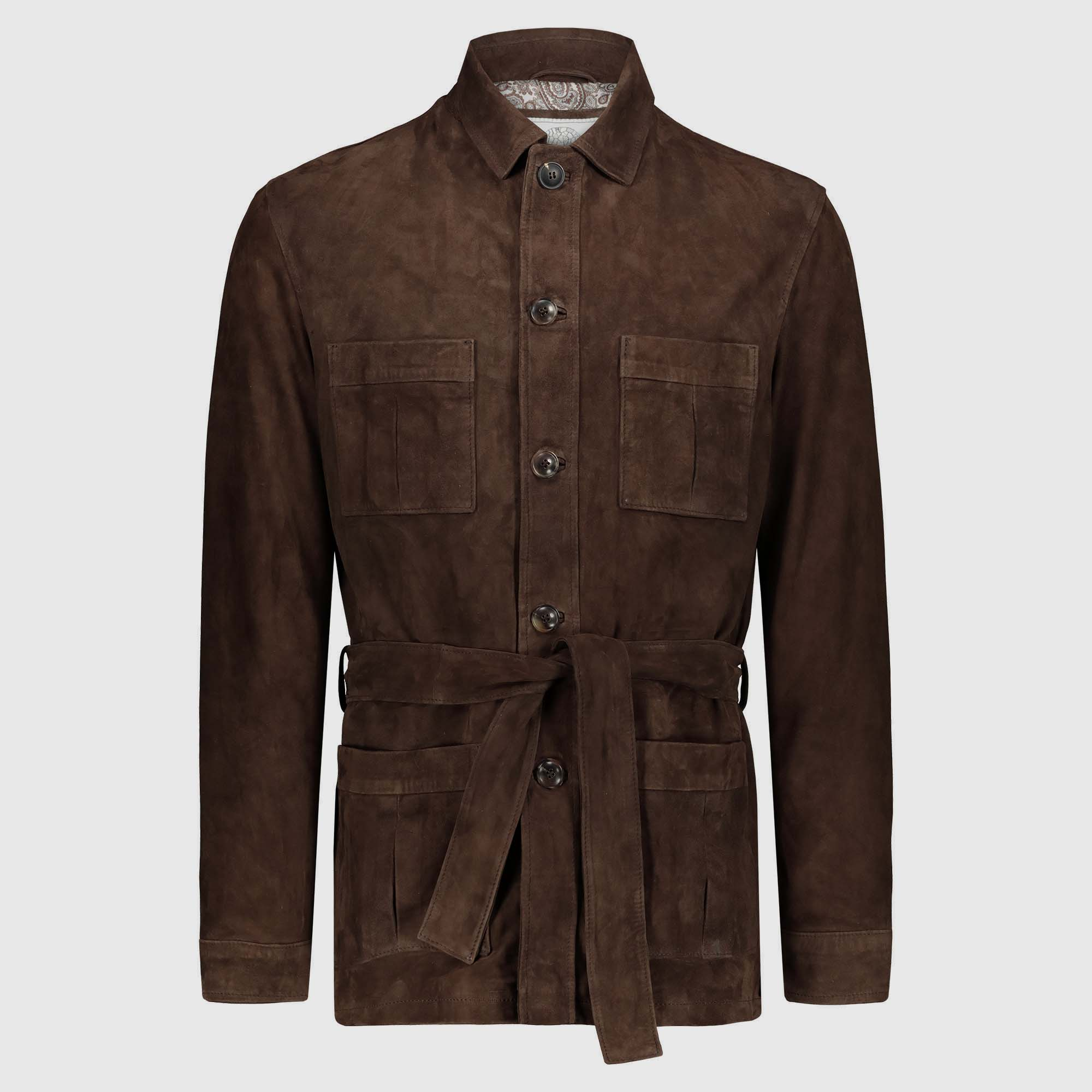 "Brown suede safari Jacket ""Robert"""