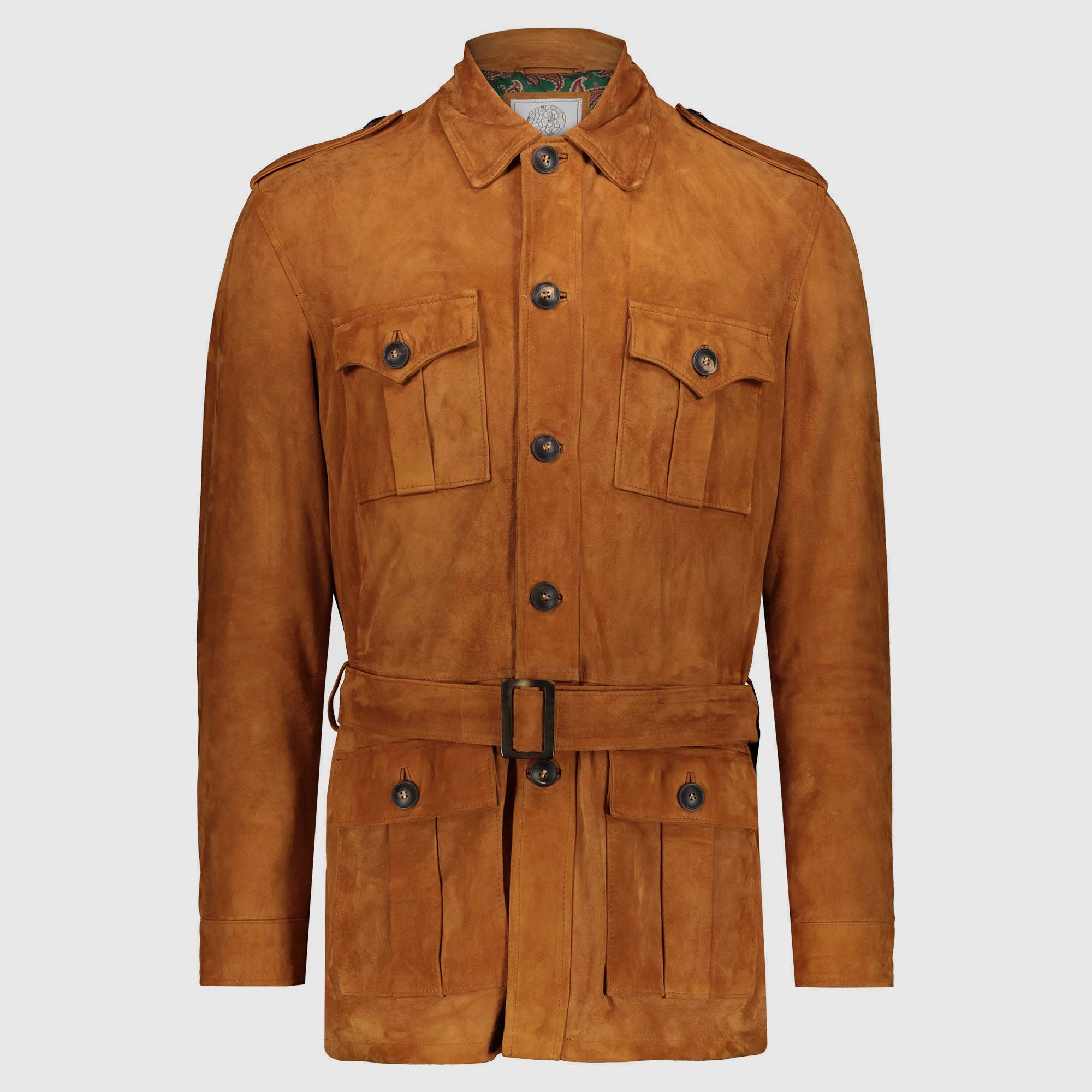 Atacama's Natural-colored leather Safari Jacket