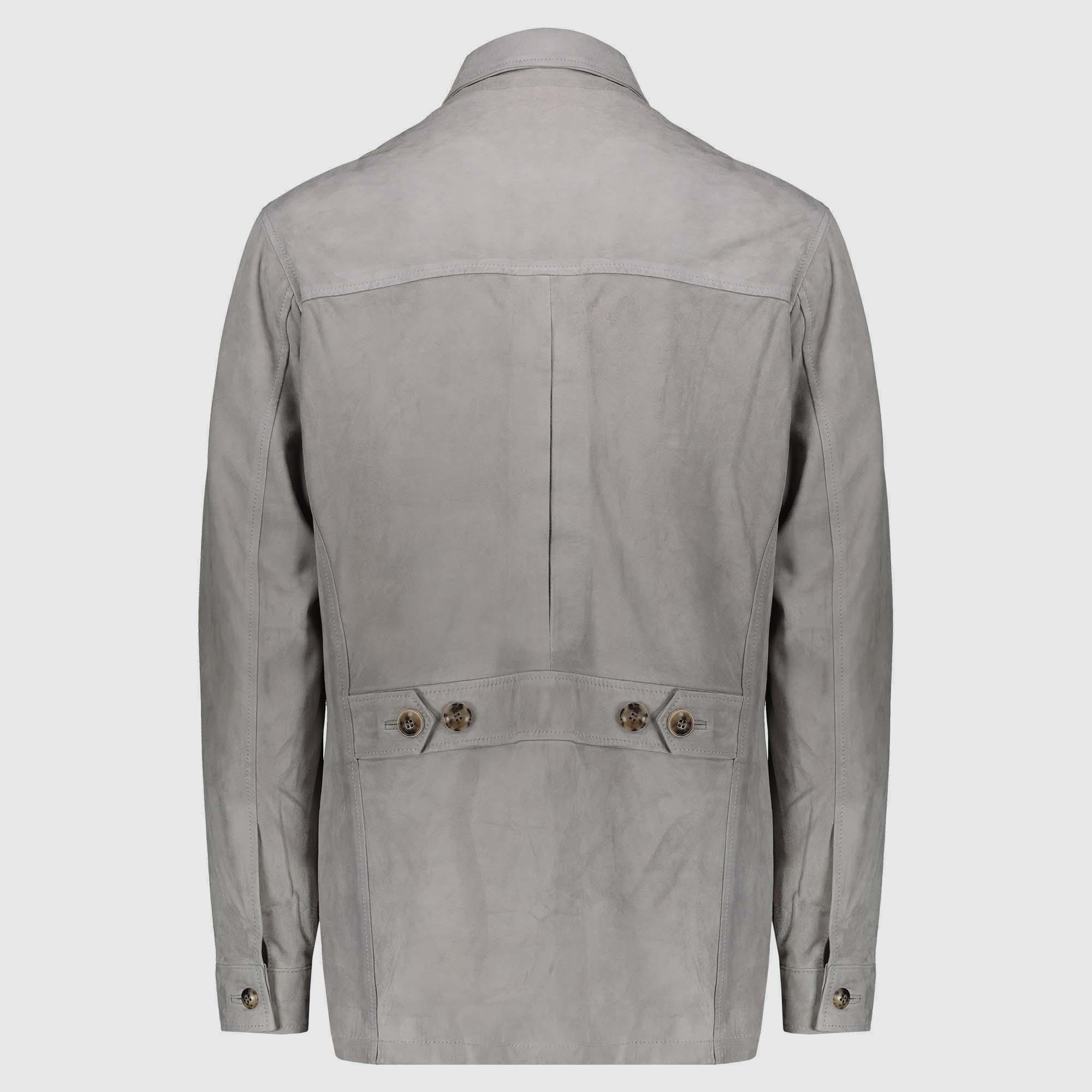 Gray Nubuck Leather Shariana