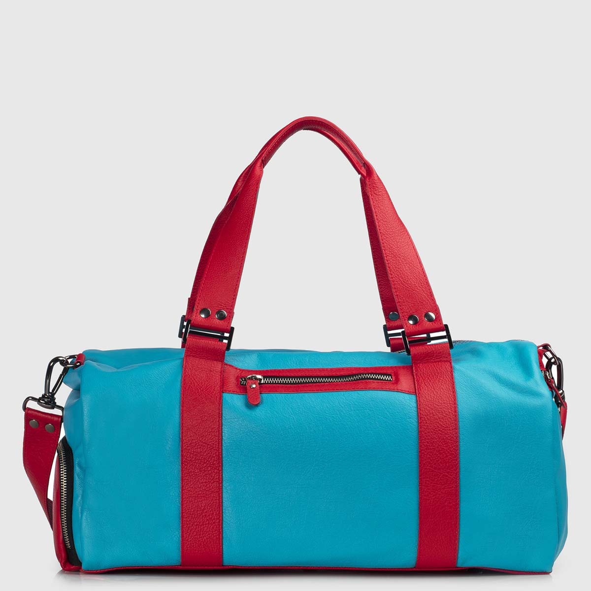 Celestial & Red Leather Duffle-bag