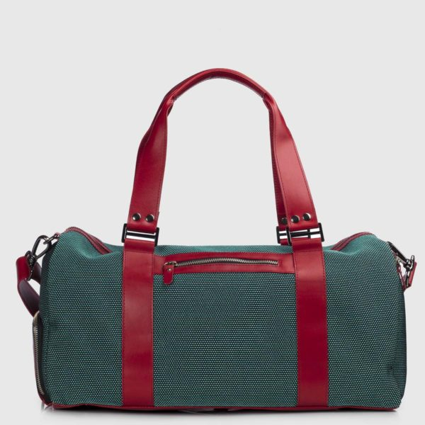 Green Stardust & Bordeaux Vanguard Leather Duffle-bag