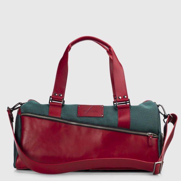 Green Stardust & Bordeaux Vanguard Leather Duffle-bag
