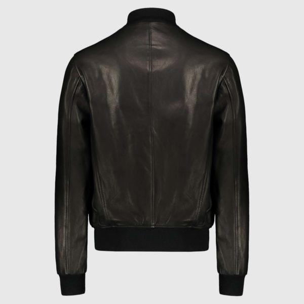 Black natural lambskin Bomber Jacket A1 Cary