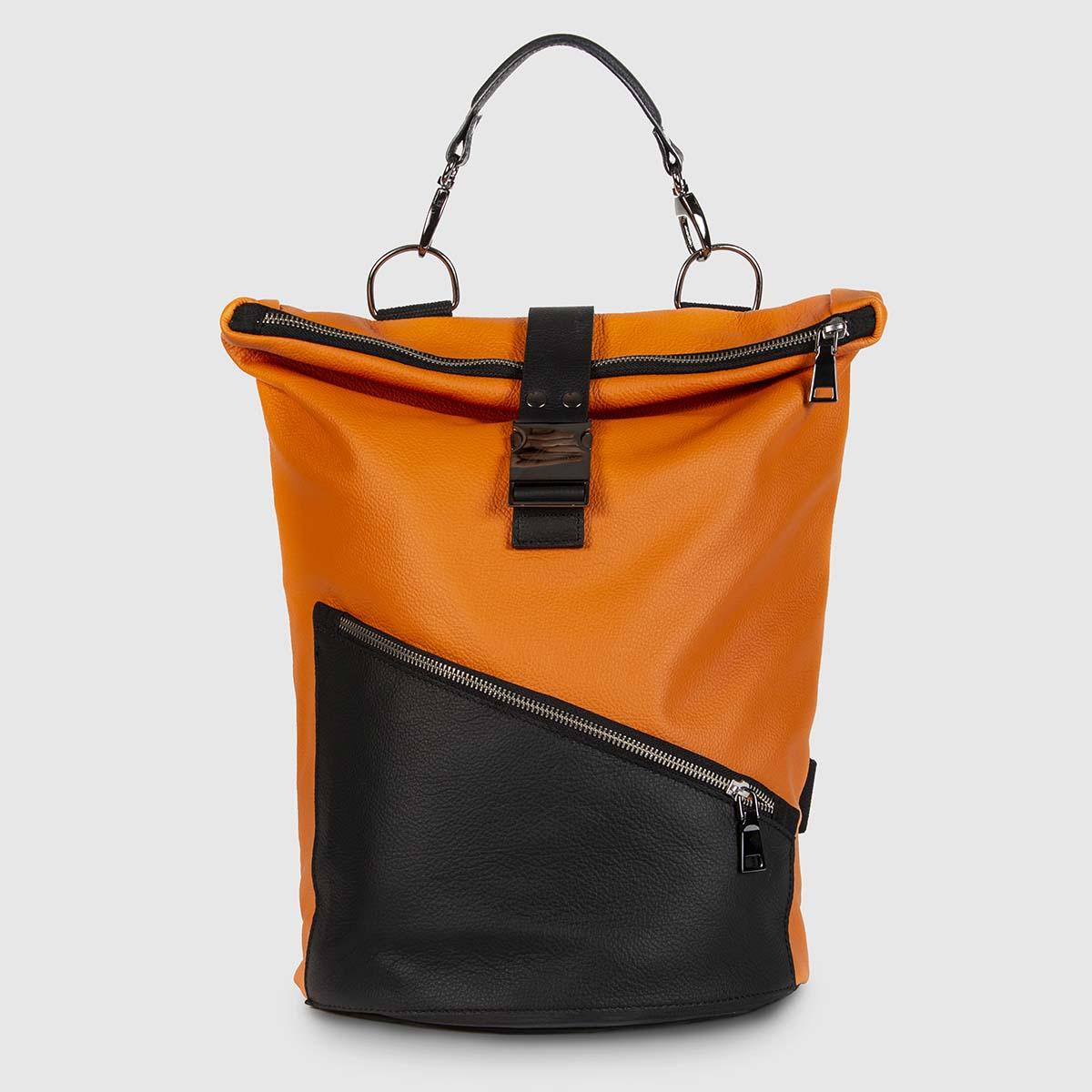 Orange and Black Astron Hadley Backpack