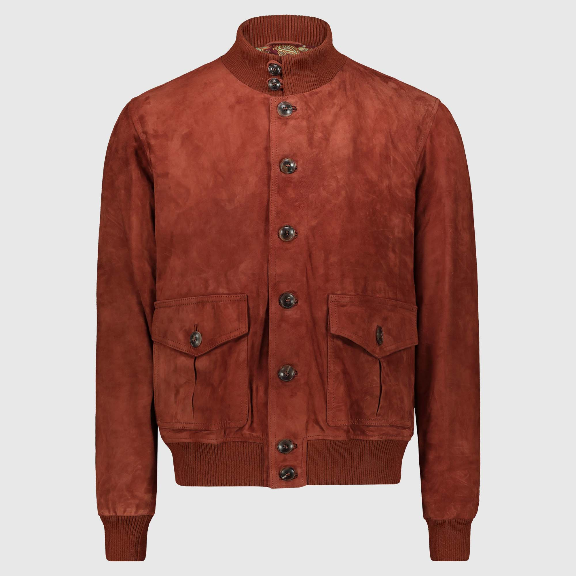 """Giacca bomber in suede mattone """"A1 Cary"""""""