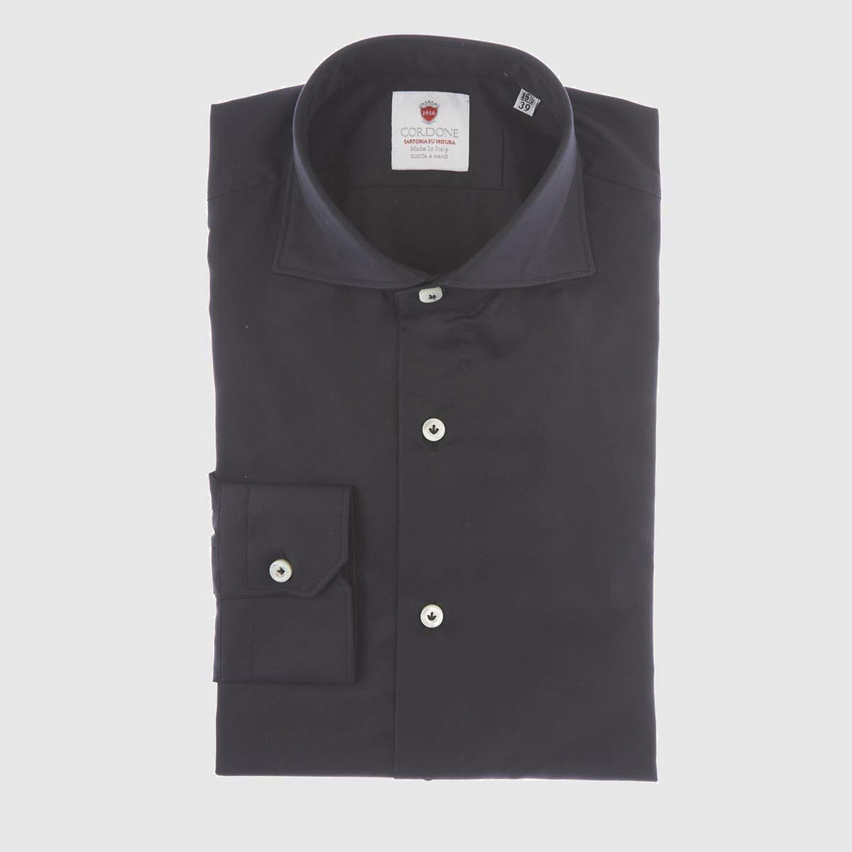 Camicia in tessuto cotone oxford nero