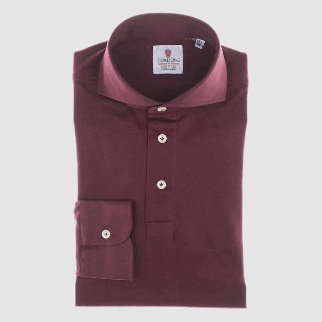 Plum Jersey Polo-Shirt