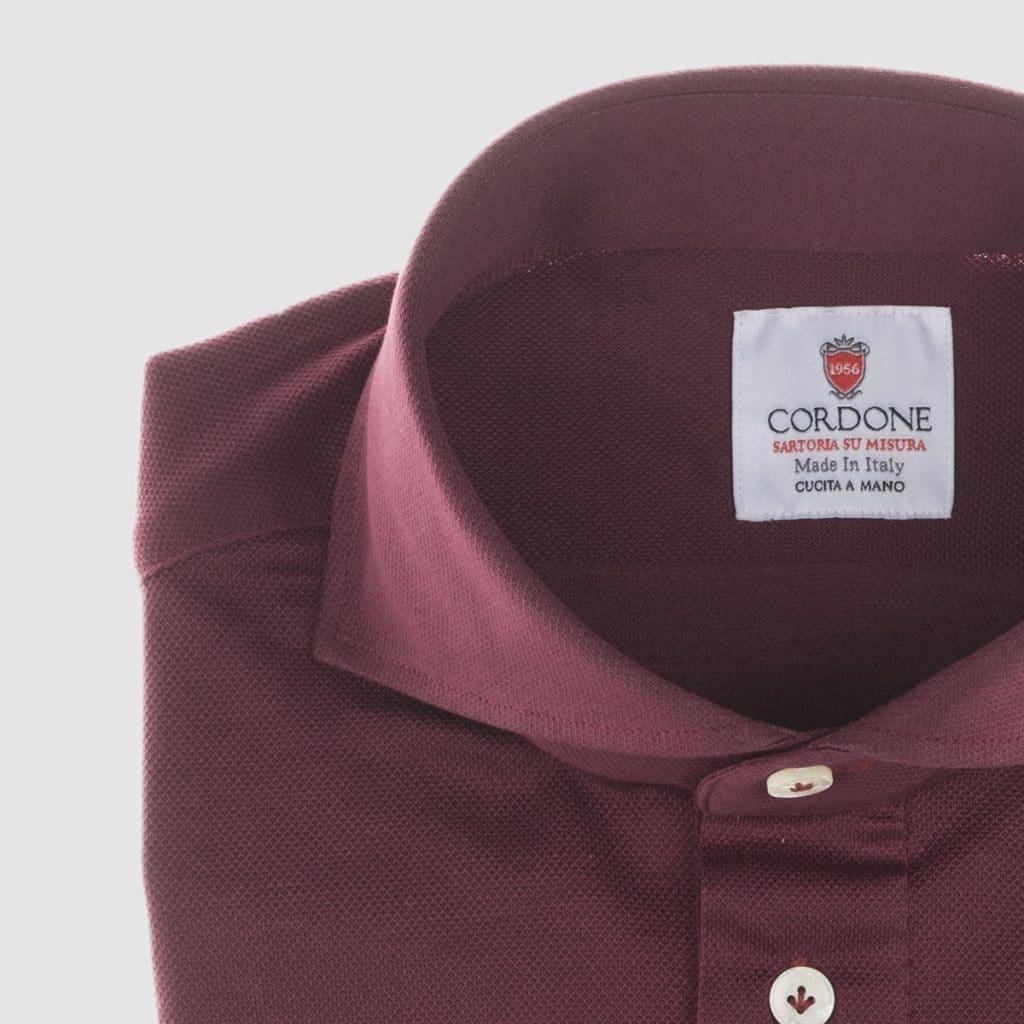 Camicia in Jersey prugna
