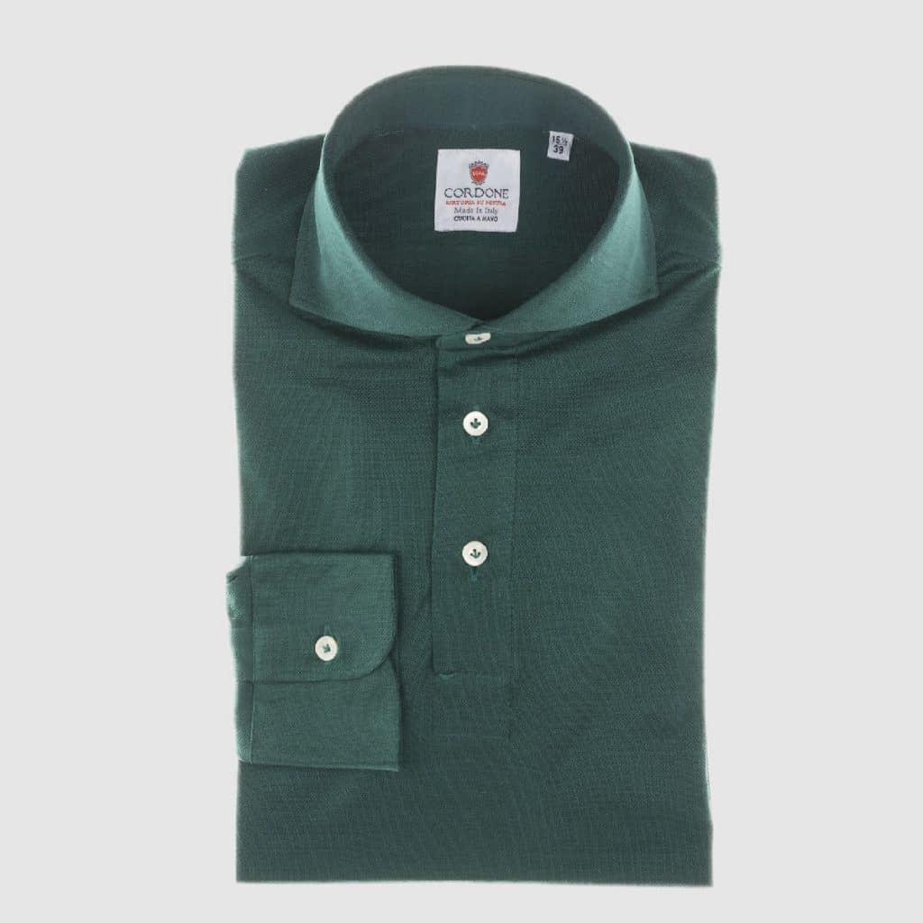 Camicia in Jersey Verde