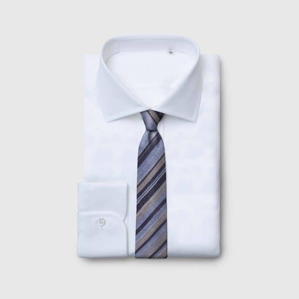 Striped melange Jacquard Silk tie