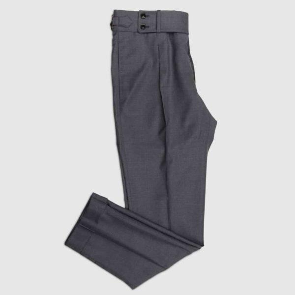 Pantalone 1 pences in lana tasmania grigio medio