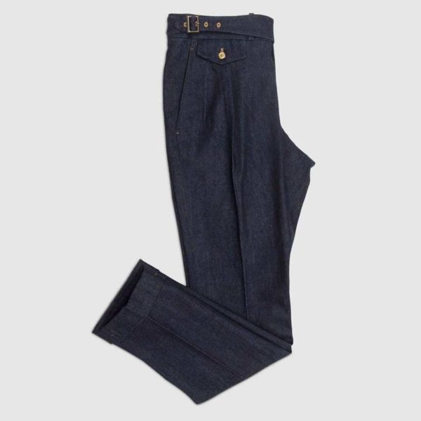 Pantalone due pences reverse in Denim