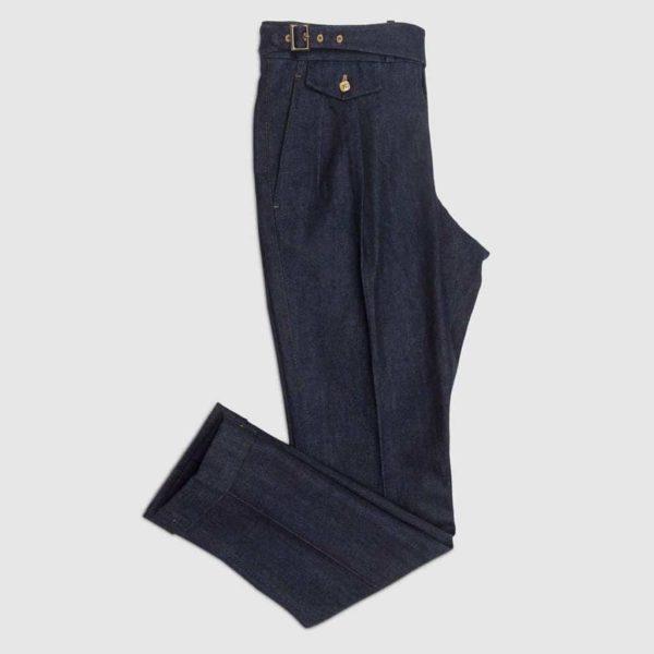 Pantalone due pences reverse in Denim
